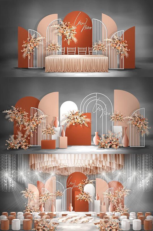 金色创意婚礼效果图-众图网
