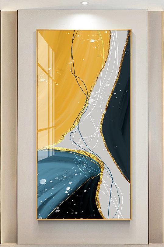 抽象线条玄关装饰画-众图网