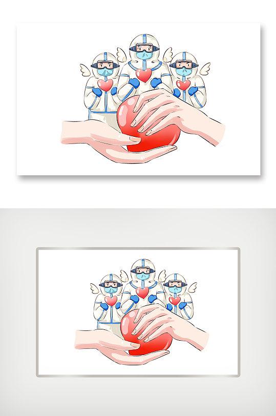 全球抗疫卡通人物-众图网