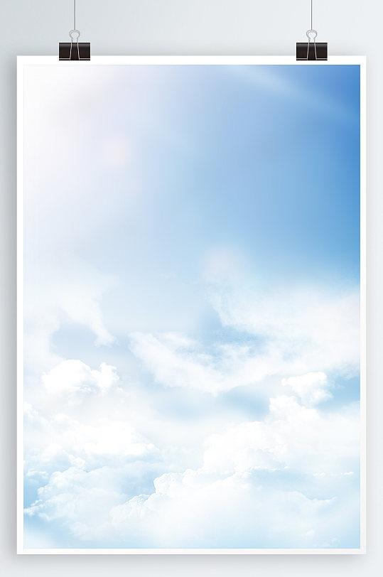 蓝天白云背景矢量天空素材