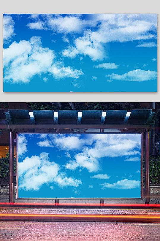 唯美天空背景蓝天白云背景素材