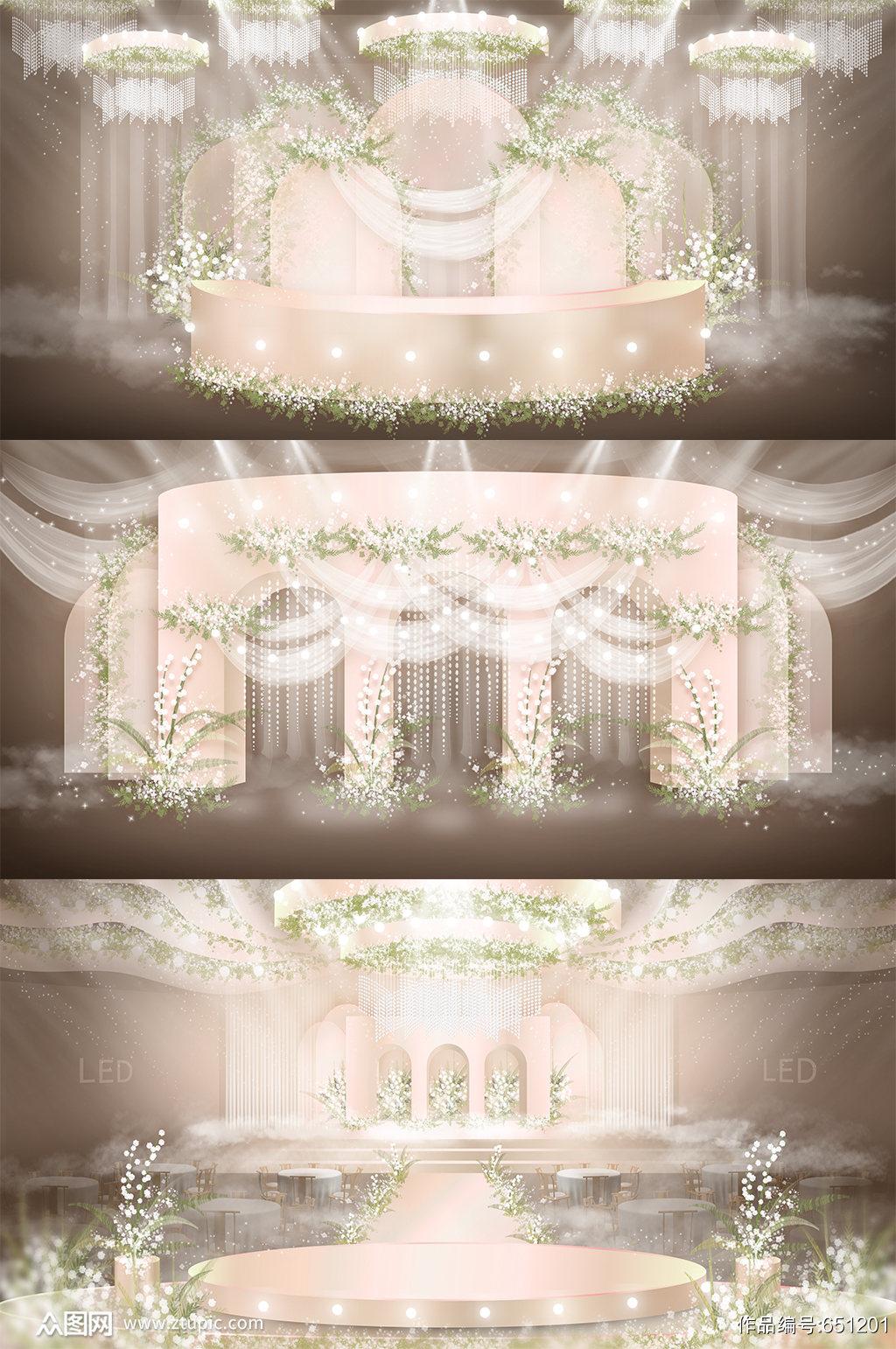婚礼婚庆舞美主题素材