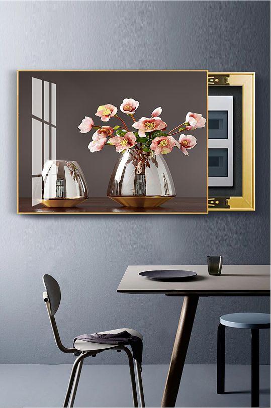 北欧花瓶花朵电表箱画-众图网