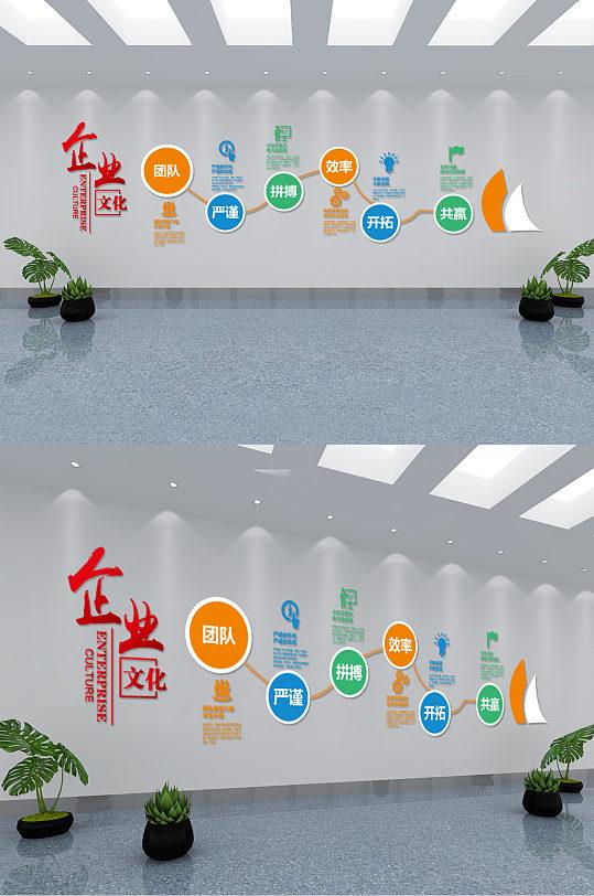 现代微立体企业文化墙-众图网