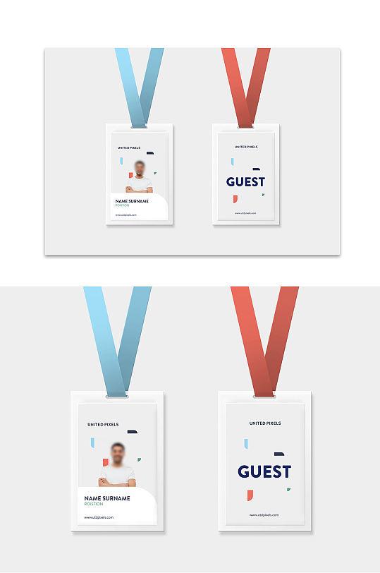 工作证吊牌样机模板图片素材-众图网