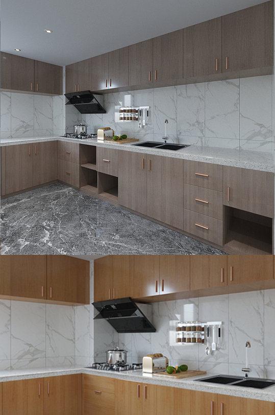 现代厨房橱柜设计图-众图网