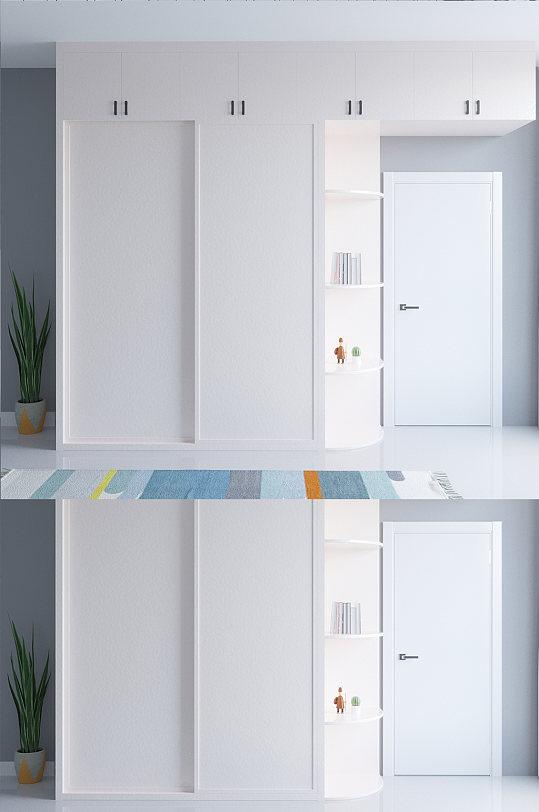 主卧衣柜设计效果图-众图网