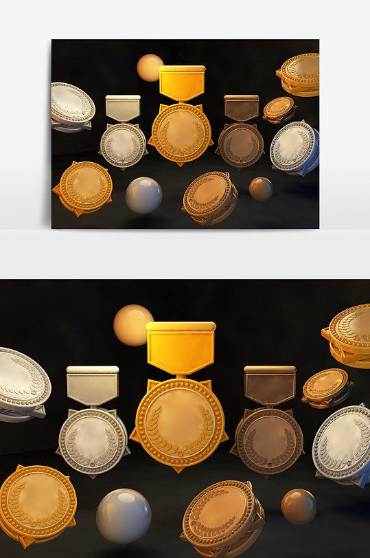 金牌银牌铜牌元素设计-众图网