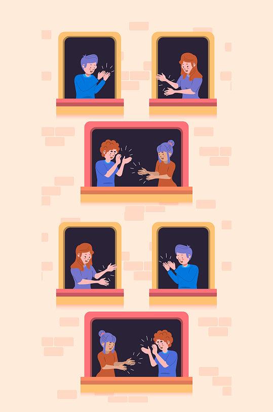 手绘造型头部插画广告设计矢量-众图网