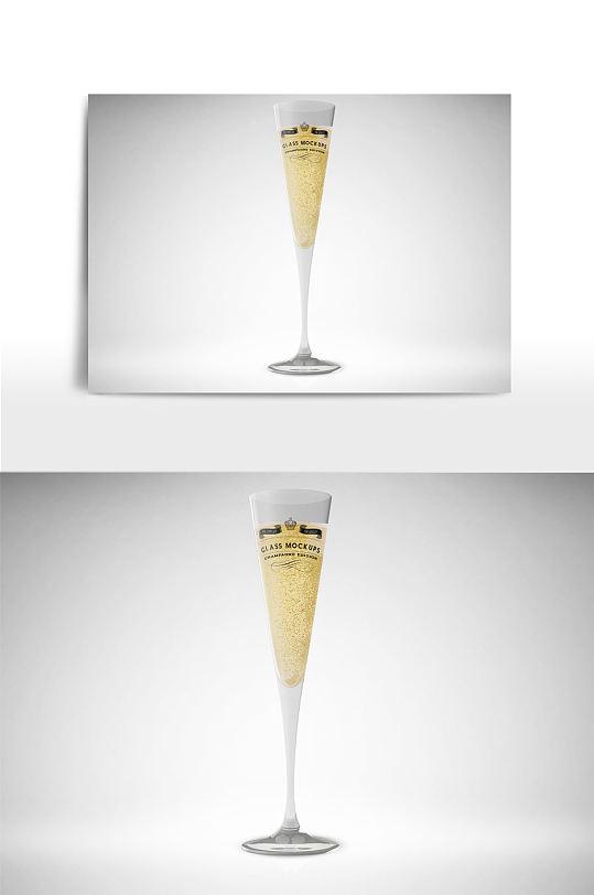 香槟酒杯样机效果-众图网