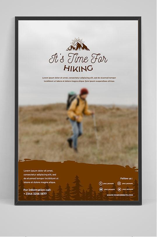 背包旅行海报设计-众图网