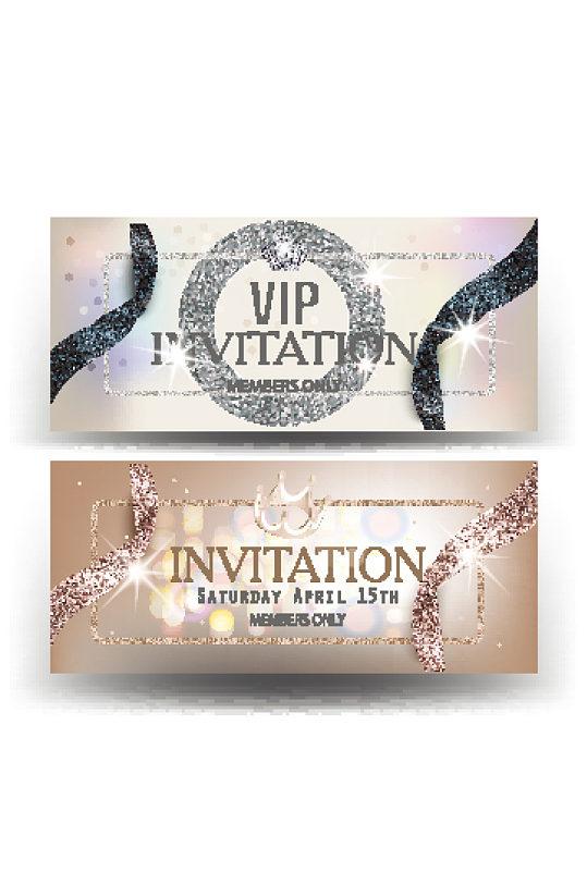 精品奢华VIP会员卡设计-众图网
