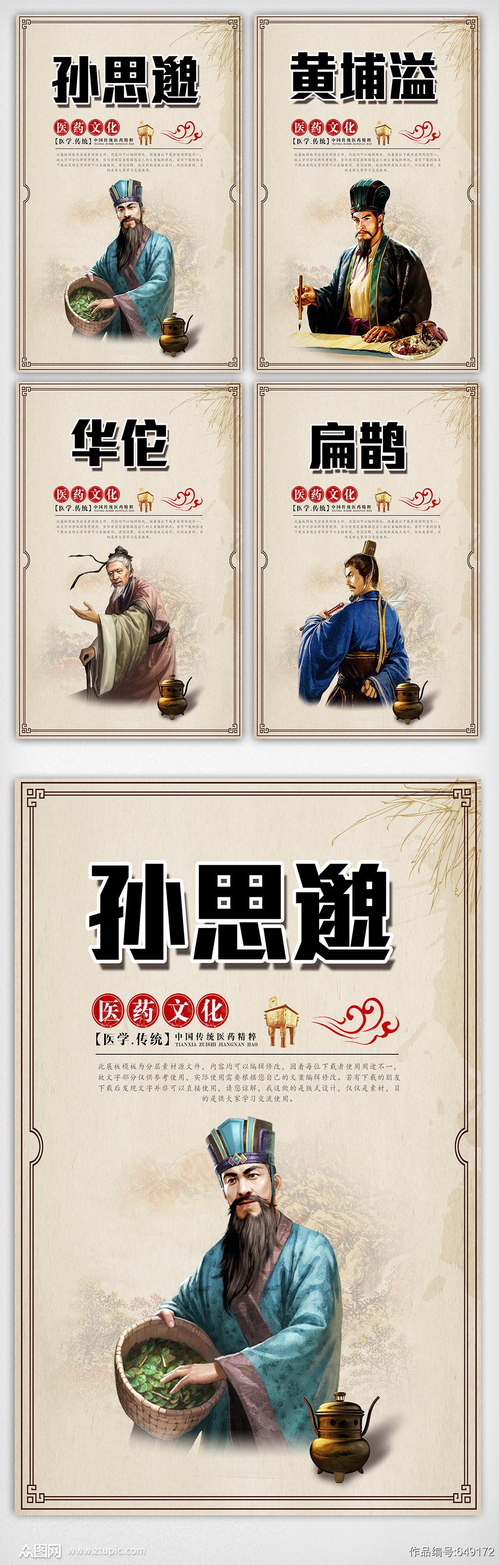 中医名人宣传内容挂画设计模板素材