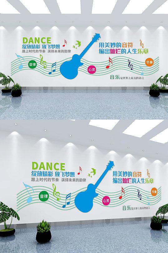 音乐室文化墙原创-众图网