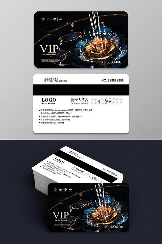绚丽花朵商务VIP卡设计模板图片-众图网