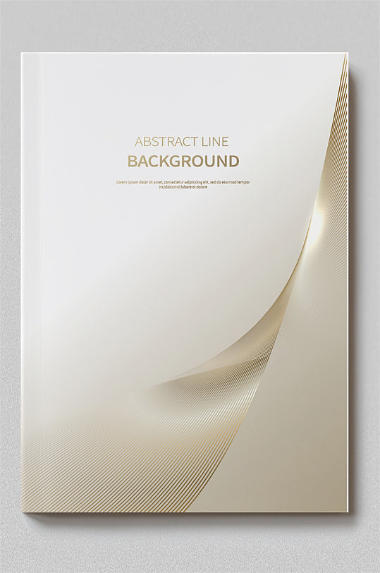 金色大气几何线条画册封面-众图网