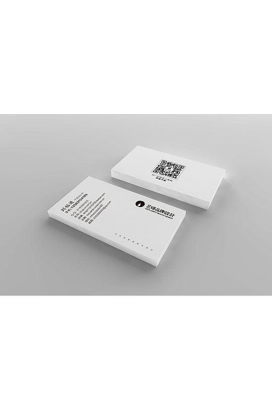 名片竖版logo样机设计提案样机-众图网