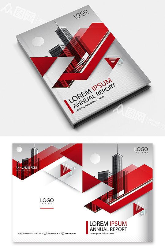 红色大气企业公司画册宣传设计-众图网