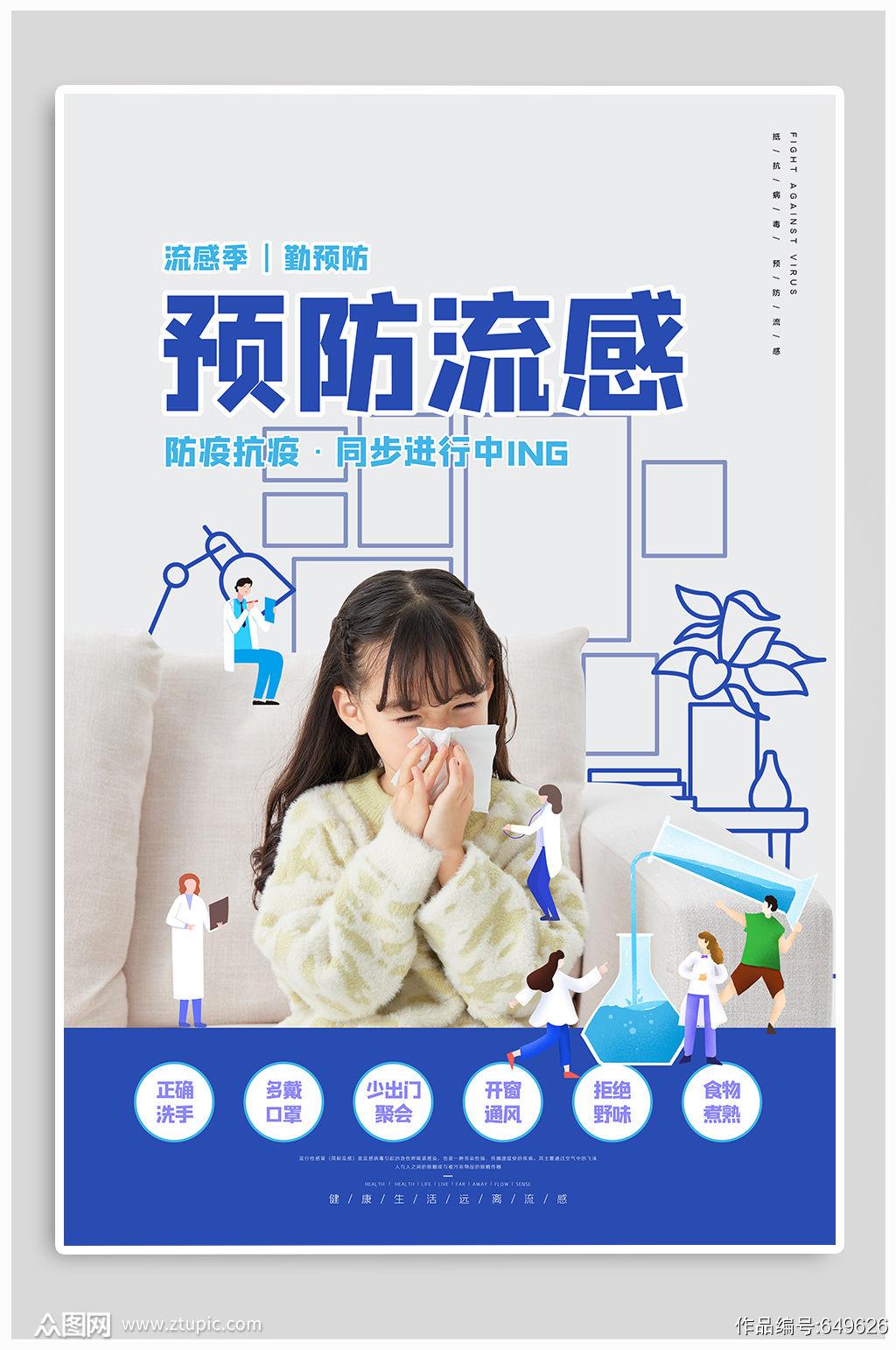 预防流感宣传海报素材