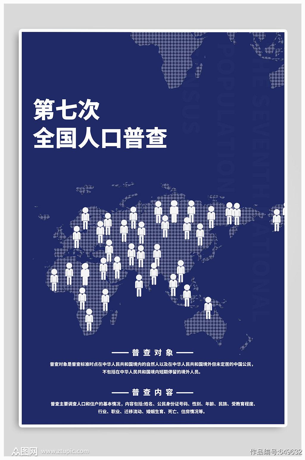 第七次人口普查宣传海报素材