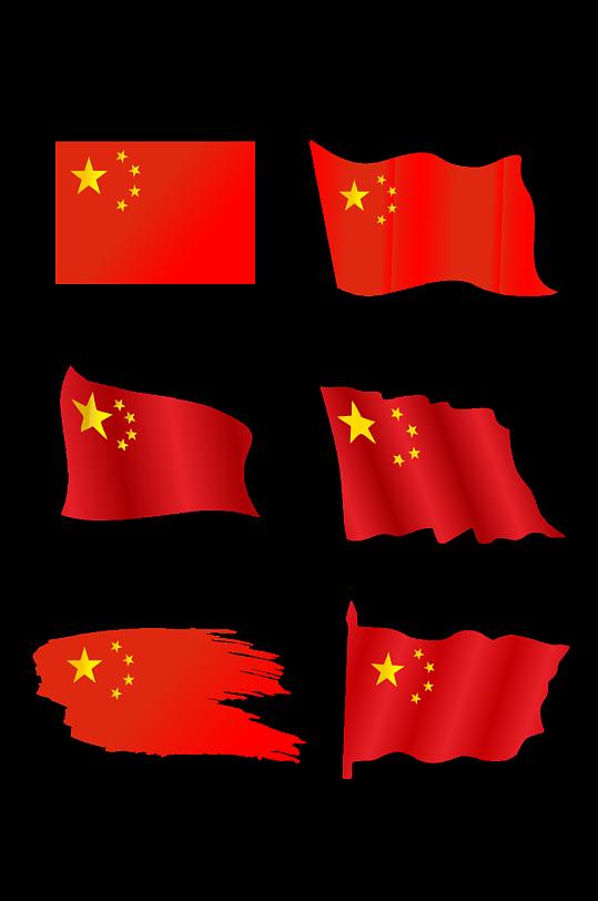 红色国旗常用元素素材 党建素材矢量图-众图网