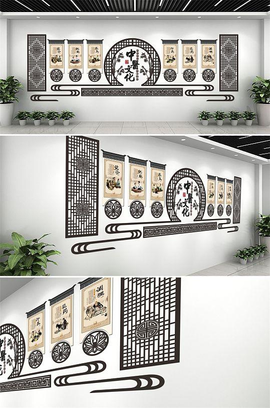 2020现代大气中医室内文化墙设计布置模板-众图网