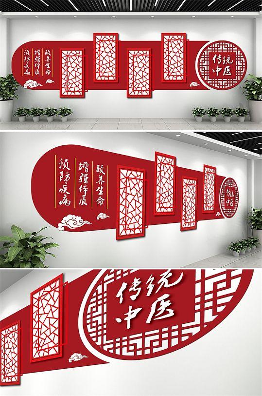 中国风传统中医文化墙-众图网