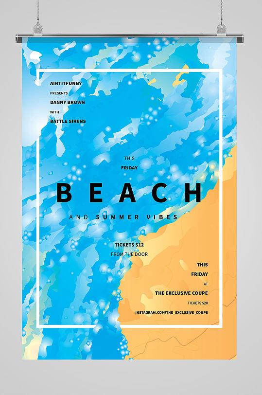 蓝色时尚欧式海报-众图网