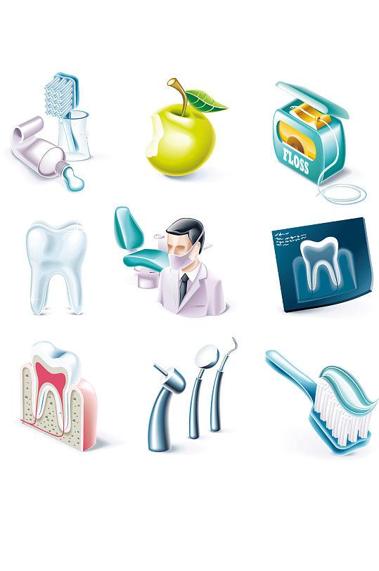 牙科医院牙齿素材-众图网