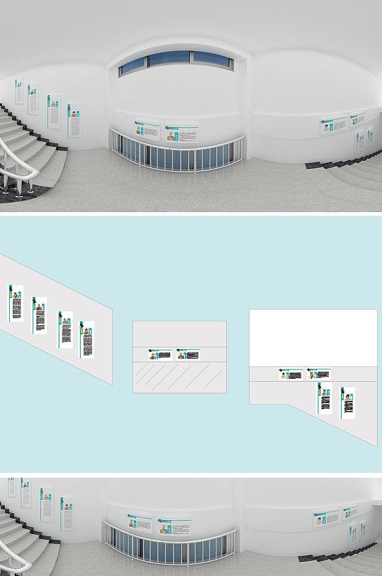 高端医院楼梯文化墙-众图网