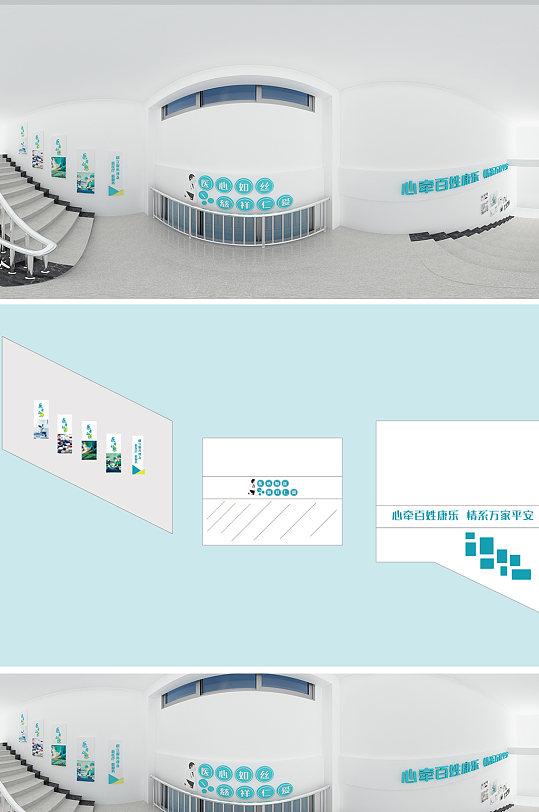 医院高端楼梯文化墙-众图网