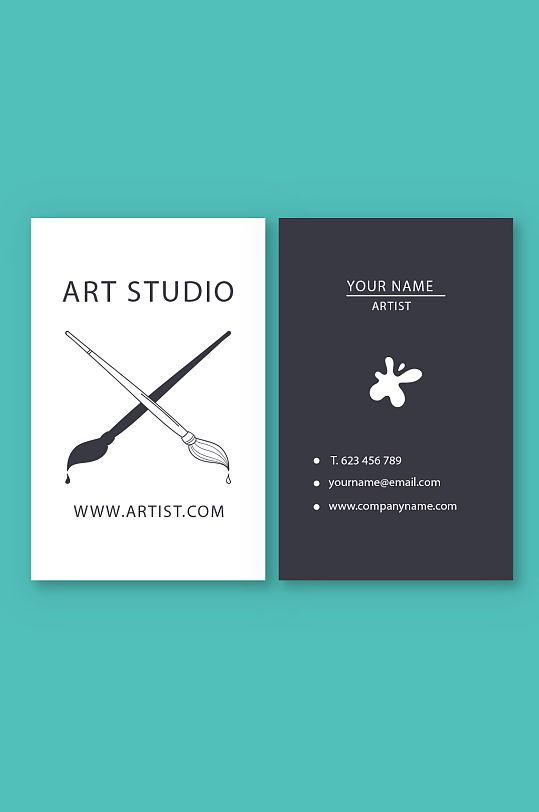 艺术创意艺术名片-众图网