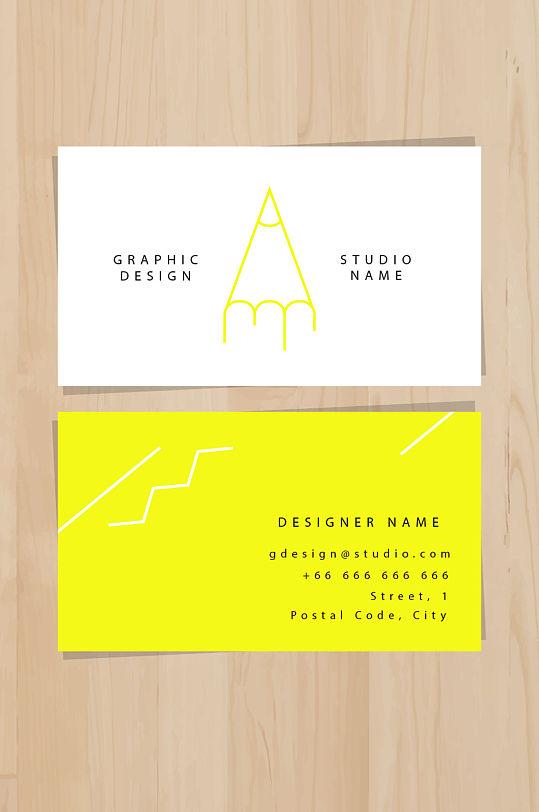 艺术工作室创意艺术名片-众图网