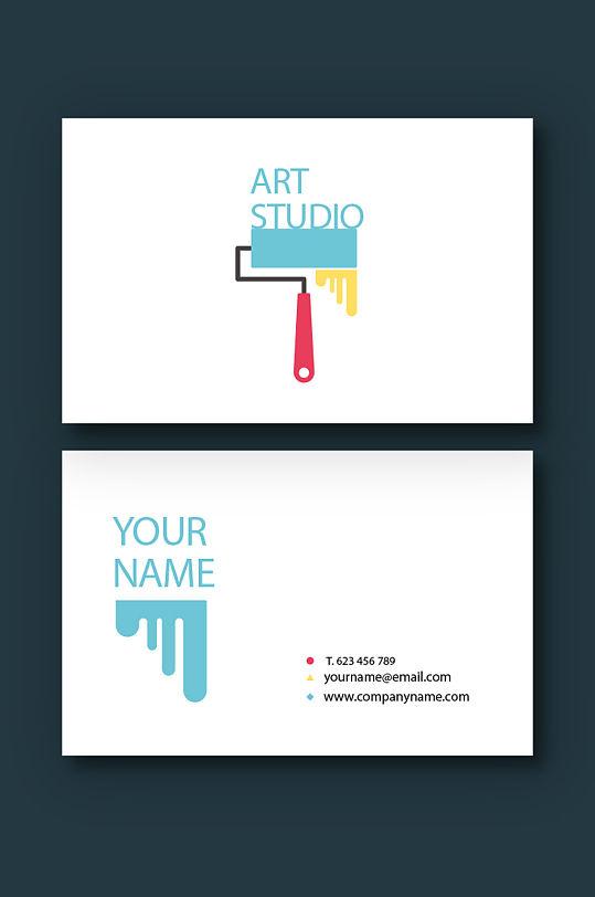 彩色创意艺术名片-众图网