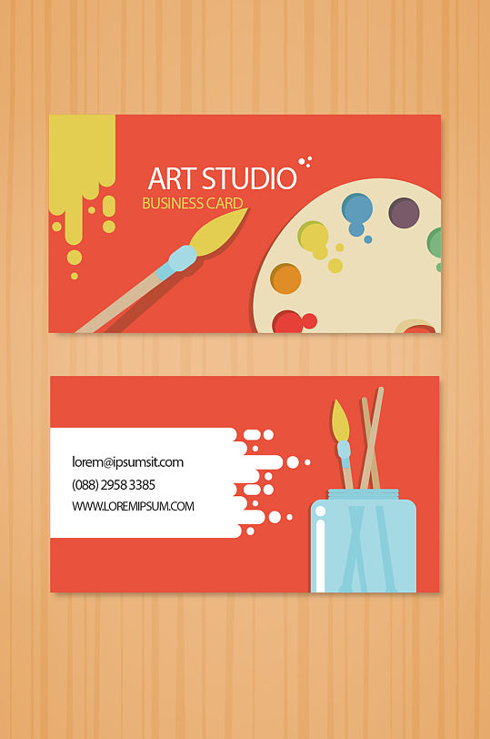 彩绘创意艺术名片-众图网