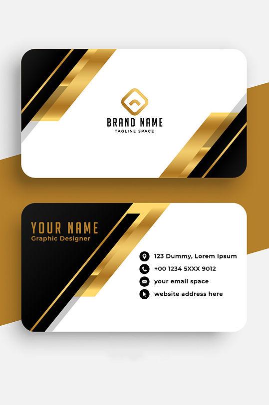黑金质感企业名片模板 名片背面-众图网