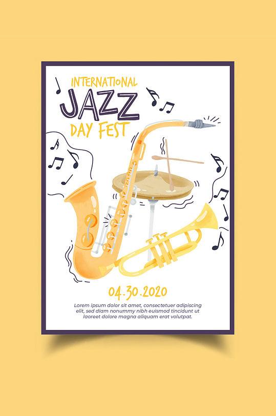 JAZZ爵士音乐会海报-众图网