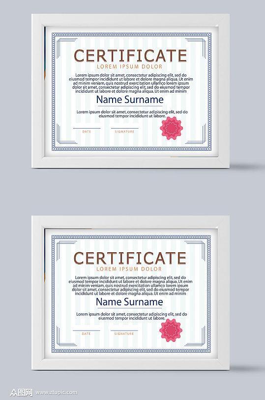 证书设计素材元素矢量-众图网