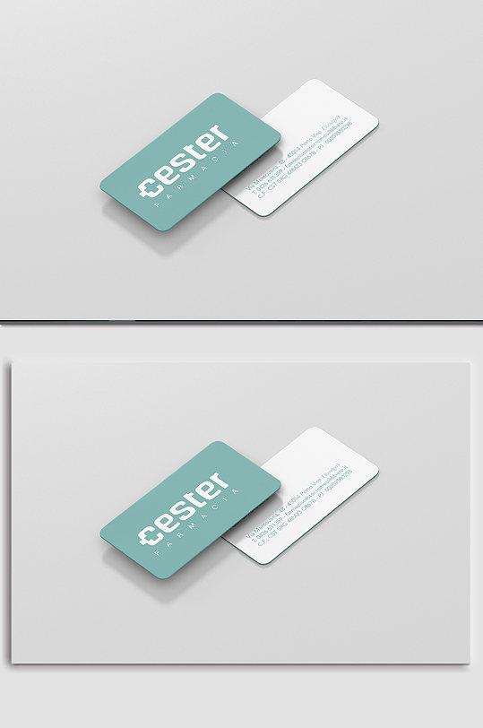 名片竖版logo样机-众图网