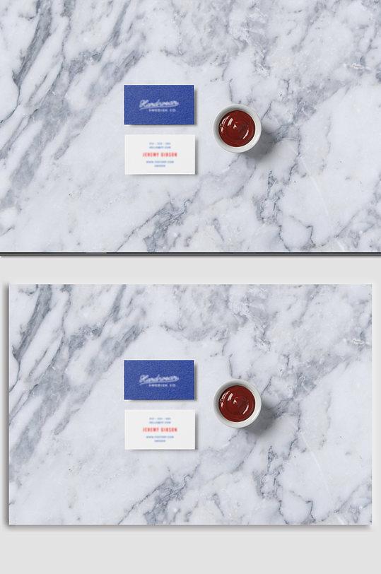 大理石名片样机展示-众图网