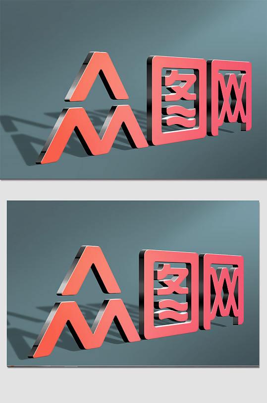 众图网不锈钢3d立体字样机-众图网
