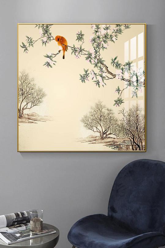 新中式意境抽象国画装饰画-众图网