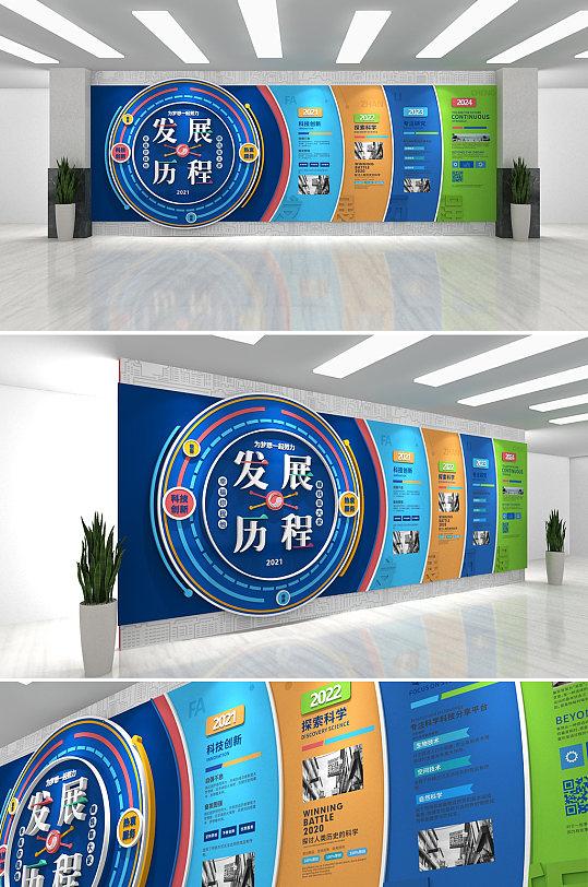 时尚企业荣誉墙企业发展历史公司企业文化墙-众图网