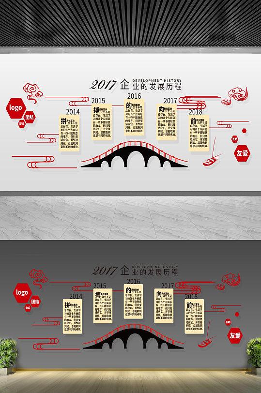 企业发展历程文化墙-众图网