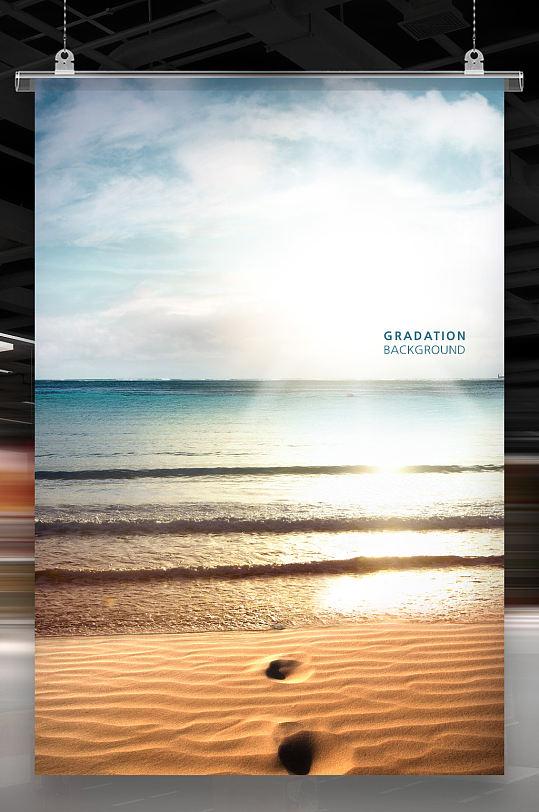 大海海边沙滩-众图网