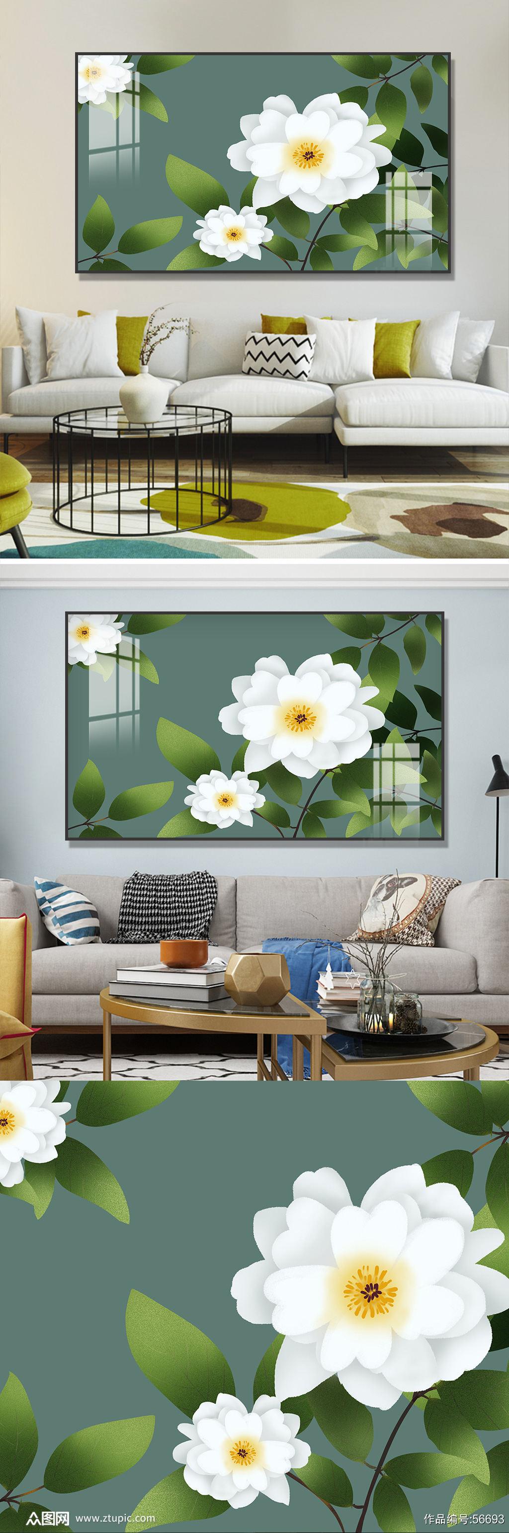 白蔷薇装饰画素材