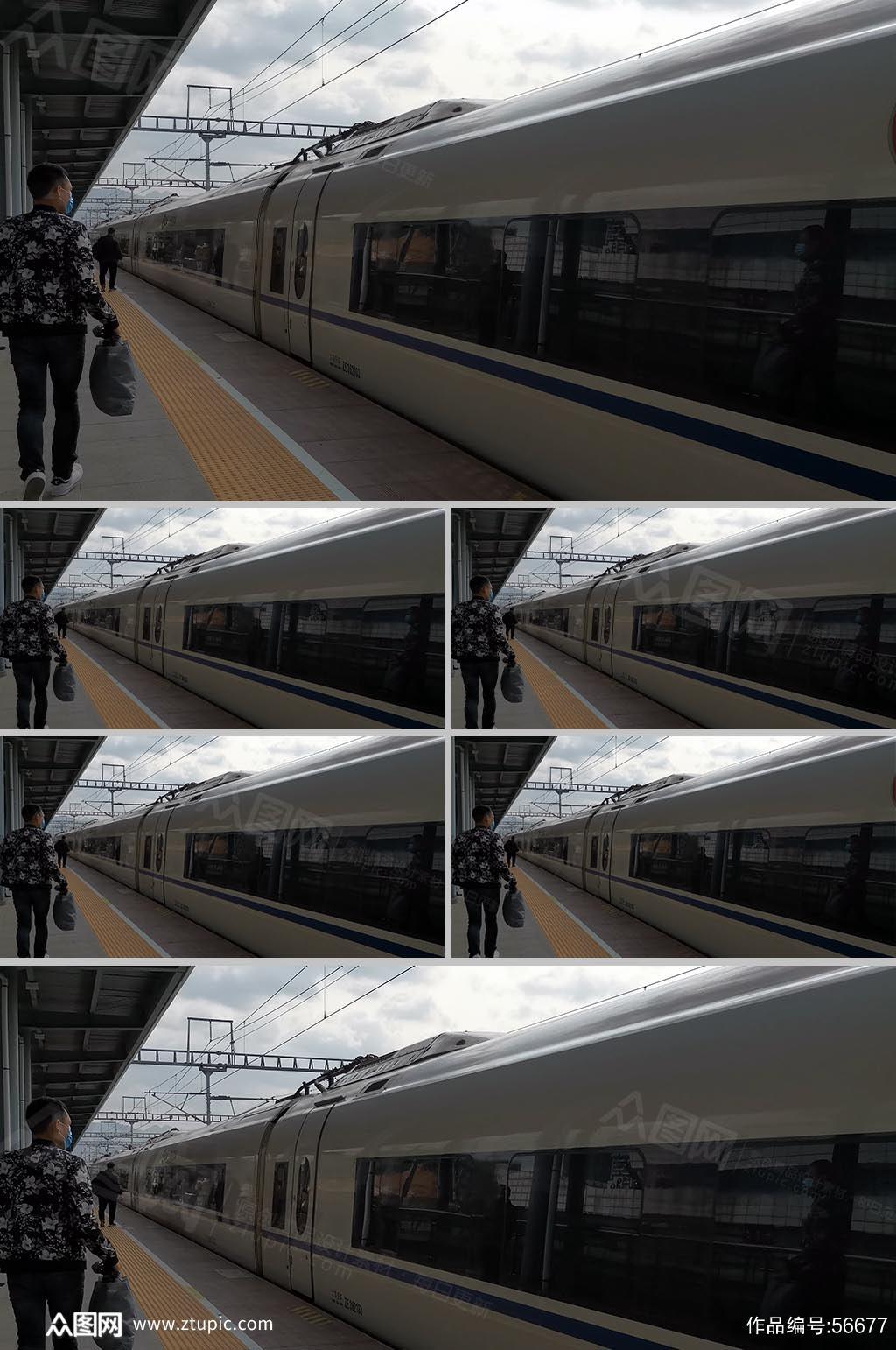 高铁进站候车人群实拍素材素材