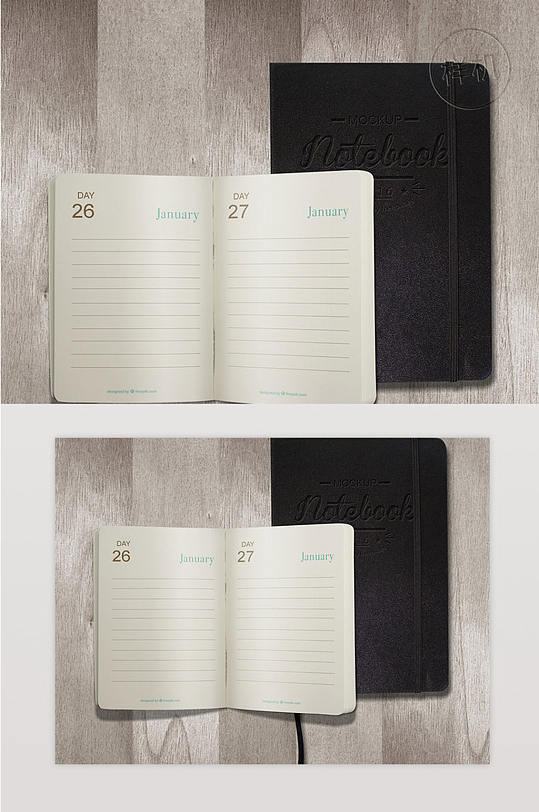 打开日记和笔记本Ps-众图网