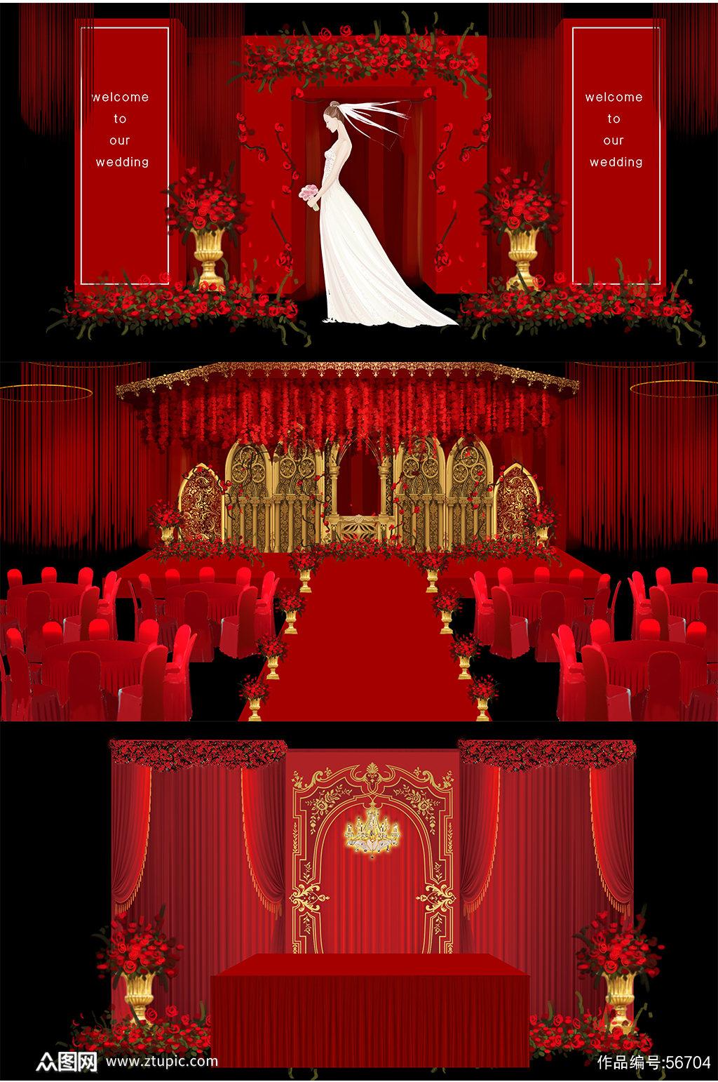 简约婚礼 西式婚礼素材