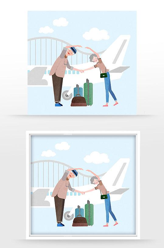 旅行素材插画海报-众图网